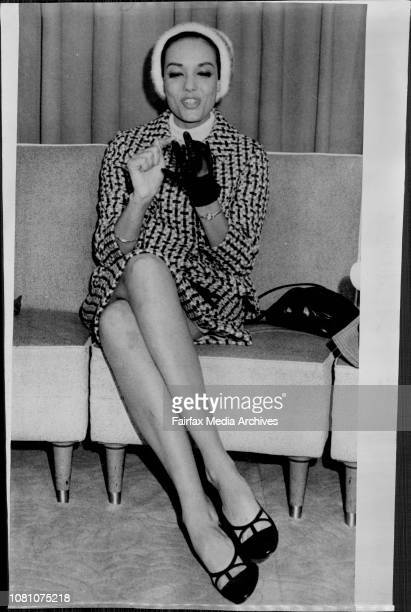 Anna Kashfi Marlon Brando's exwife arrived secretly at Mascot today She is pictured in a TV room August 23 1966