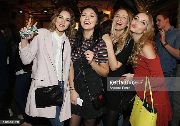 Anna Katharina Damm Anna Maria Damm Maren Merkel and Patrizia Palme attend the REVIEW by Sami Slimani Capsule Collection launch party on March 31...
