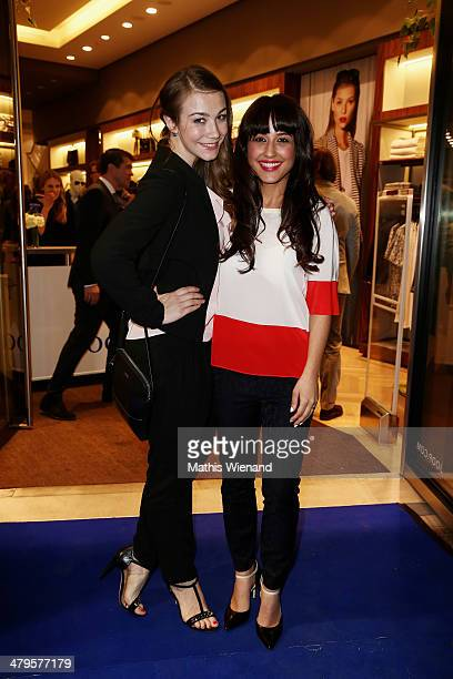 Anna Katharina Samsel and Nina Moghaddam attend the Joop Store Opening at Koe Bogen Dusseldorf on March 19 2014 in Dusseldorf Germany