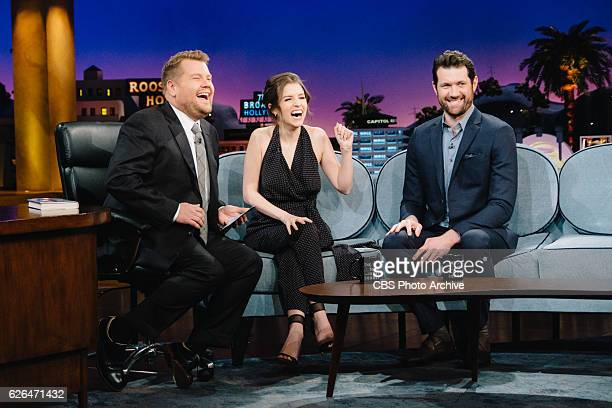 Anna Kendrick and Billy Eichner chat with James Corden during 'The Late Late Show with James Corden' Monday November 21 2016 On The CBS Television...
