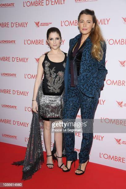 Anna Kendrick and Blake Lively attend L'Ombre D'Emilie A Simple Favor Premiere at Cinema UGC Normandie on September 18 2018 in Paris France