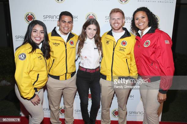 Anna Kendrick and City Year AmeriCorps members attend City Year Los Angeles' Spring Break Destination Education at Sony Studios on April 28 2018 in...