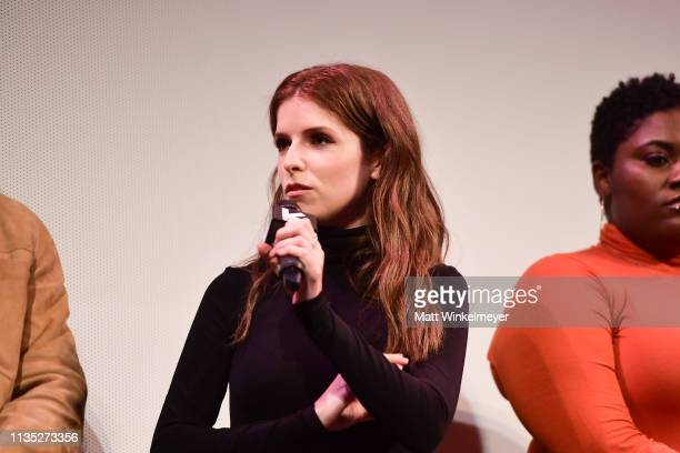 Anna Kendrick and Danielle Brooks attend the The Day Shall Come Premiere 2019 SXSW Conference and Festivals at Paramount Theatre on March 11 2019 in...