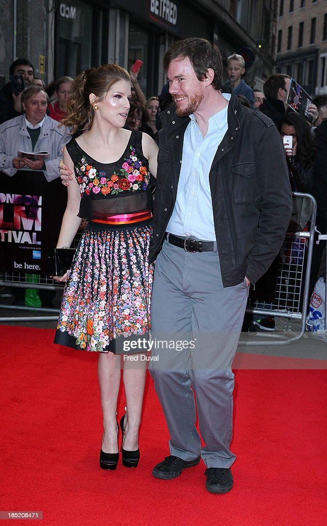 Anna Kendrick and Joe Swanberg attend a screening of 'Drinking Buddies' during the 57th BFI London Film Festival at Odeon West End on October 18, 2013 in London, England.
