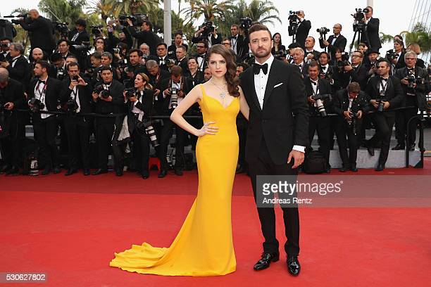 Anna Kendrick and Justin Timberlake attend the 'Cafe Society' premiere and the Opening Night Gala during the 69th annual Cannes Film Festival at the...