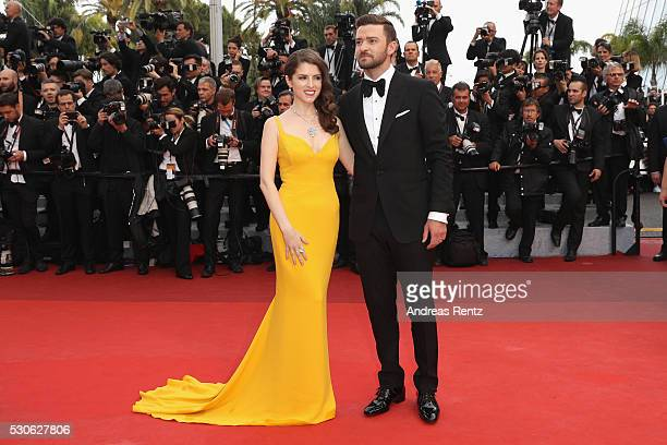"Anna Kendrick and Justin Timberlake attend the ""Cafe Society"" premiere and the Opening Night Gala during the 69th annual Cannes Film Festival at the..."
