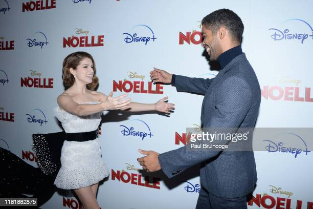 Anna Kendrick and Kingsley BenAdir attend Disney And The Cinema Society Host A Special Screening Of Noelle at SVA Theatre on November 11 2019 in New...