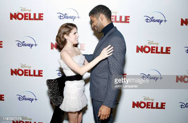 Anna Kendrick and Kingsley BenAdir attend Noelle New York screening at SVA Theater on November 11 2019 in New York City
