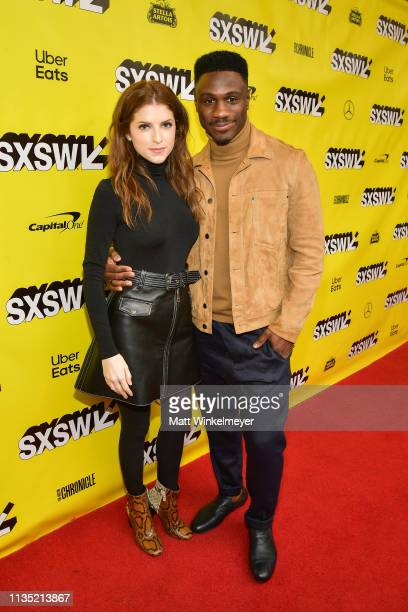 Anna Kendrick and Marchánt Davis attend the The Day Shall Come Premiere 2019 SXSW Conference and Festivals at Paramount Theatre on March 11 2019 in...