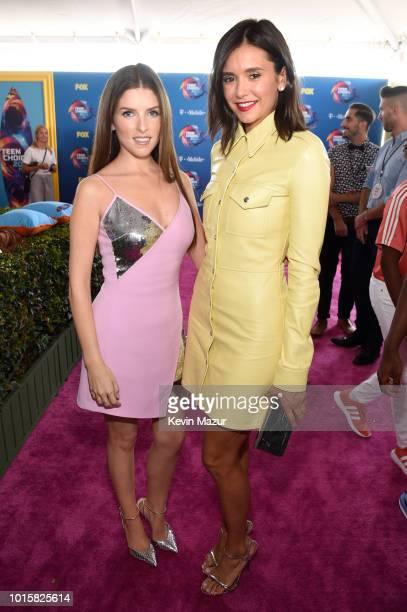Anna Kendrick and Nina Dobrev attend FOX's Teen Choice Awards at The Forum on August 12 2018 in Inglewood California