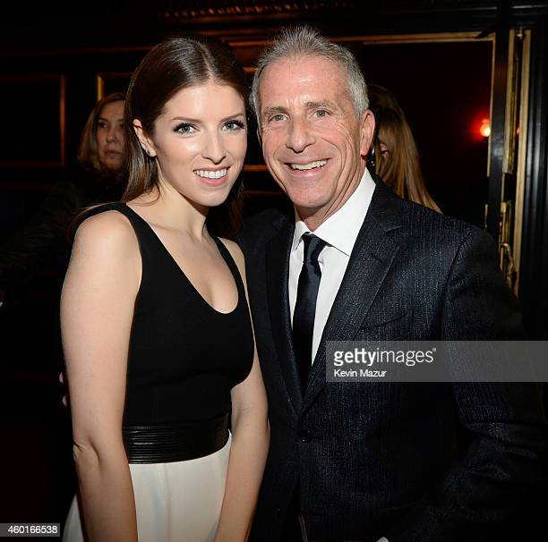 Anna Kendrick and producer Marc Platt attend the world premiere of 'Into the Woods' at the Ziegfeld Theatre on December 8 2014 in New York City The...