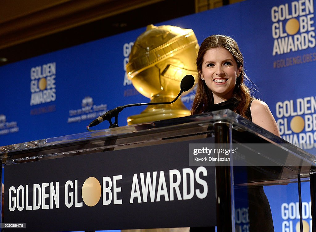 Anna Kendrick announces nominations for the 74th Annual Golden Globe Awards at The Beverly Hilton Hotel on December 12, 2016 in Beverly Hills, California. The Golden Globe Awards will be held on Sunday, January 8, 2017 in Los Angeles. The Golden Globe Awards will be held on Sunday, January 8, 2017 in Los Angeles.
