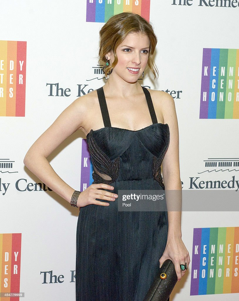 Anna Kendrick arrive at the formal Artist's Dinner honoring the recipients of the 2013 Kennedy Center Honors hosted by United States Secretary of State John F. Kerry at the U.S. Department of State on December 7, 2013 in Washington, D.C. The 2013 honorees are: opera singer Martina Arroyo, musician/composer Herbie Hancock, singer/songwriter Billy Joel, actress Shirley MacLaine, and musician/songwriter Carlos Santana.