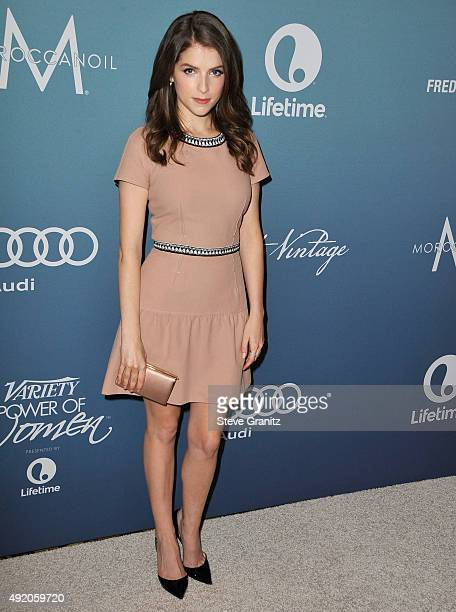 Anna Kendrick arrives at the Variety's Power Of Women Luncheon at the Beverly Wilshire Four Seasons Hotel on October 9 2015 in Beverly Hills...