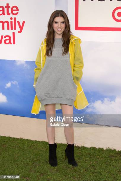 Anna Kendrick arrives for the Hunter for Target Ultimate Family Festival at Rose Bowl on March 25 2018 in Pasadena California