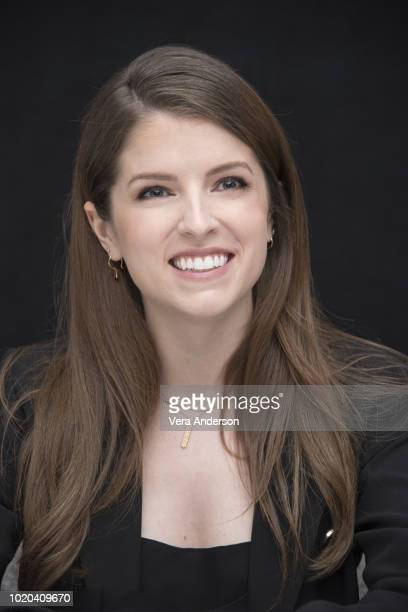 Anna Kendrick at the A Simple Favor Press Conference at the Crosby Street Hotel on August 19 2018 in New York City