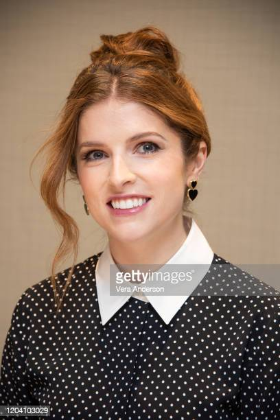 Anna Kendrick at the Trolls World Tour Press Conference at DreamWorks Animation on February 04 2020 in Glendale California