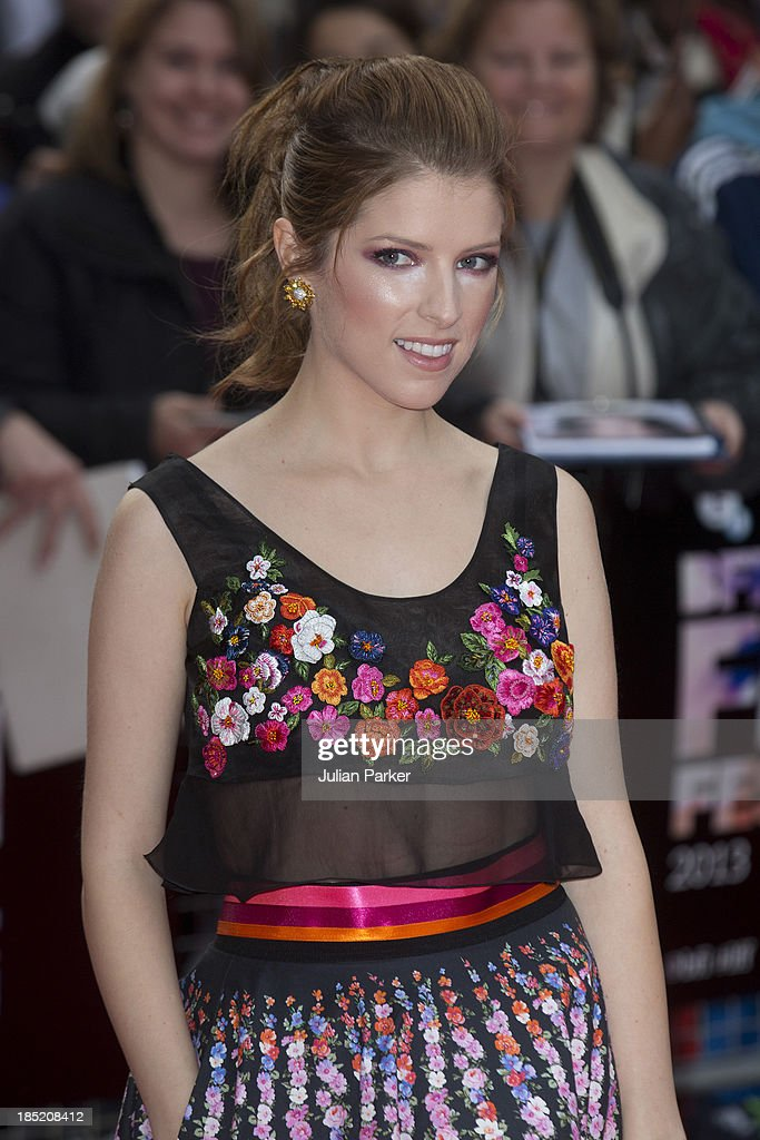 Anna Kendrick attends a screening of 'Drinking Buddies' during the 57th BFI London Film Festival at Odeon West End on October 18, 2013 in London, England.