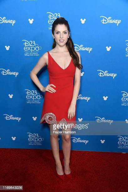 Anna Kendrick attends D23 Disney event at Anaheim Convention Center on August 23 2019 in Anaheim California