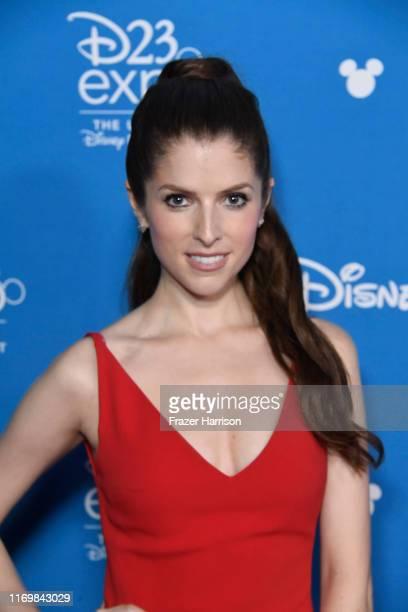 Anna Kendrick attends D23 Disney event at Anaheim Convention Center on August 23 2019 in Anaheim California