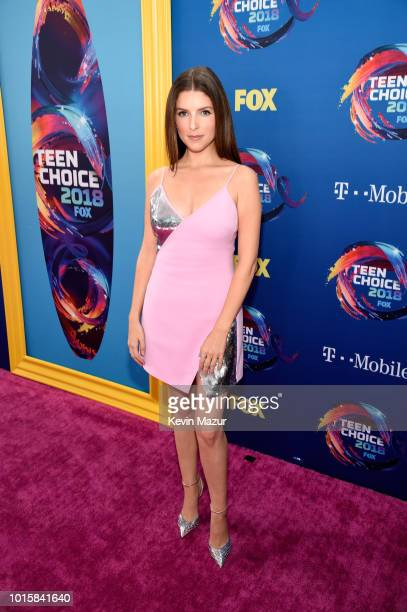 Anna Kendrick attends FOX's Teen Choice Awards at The Forum on August 12 2018 in Inglewood California