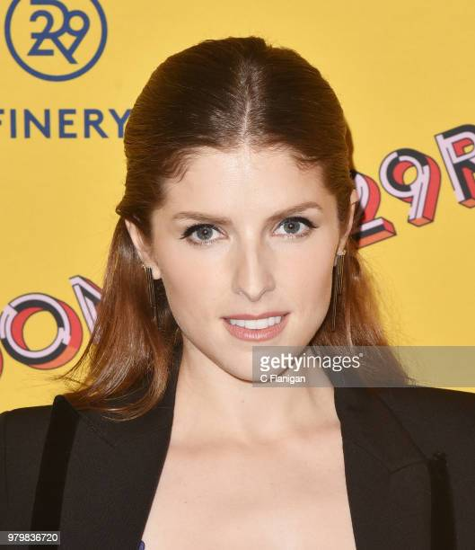 Anna Kendrick attends Refinery29's 29Rooms San Francisco Turn It Into Art Opening Party at the Palace of Fine Arts on June 20 2018 in San Francisco...
