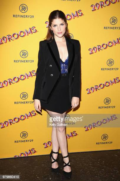 Anna Kendrick attends Refinery29's 29Rooms San Francisco Turn It Into Art Opening Party 2018 at Palace of Fine Arts on June 20 2018 in San Francisco...