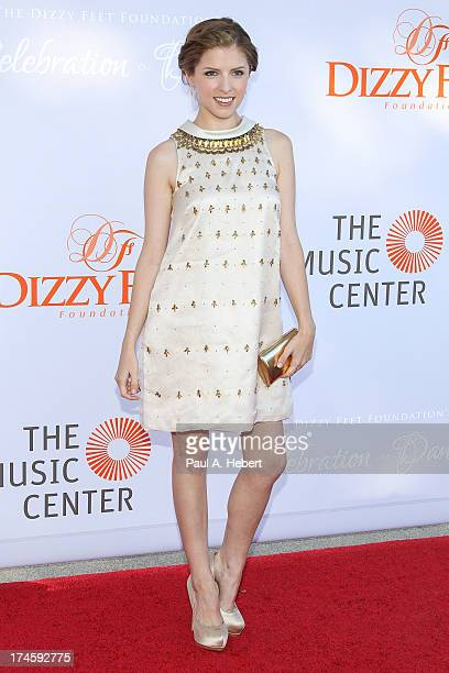 Anna Kendrick attends the 3rd Annual Dizzy Feet Foundation's Celebration Of Dance Gala at Dorothy Chandler Pavilion on July 27, 2013 in Los Angeles,...