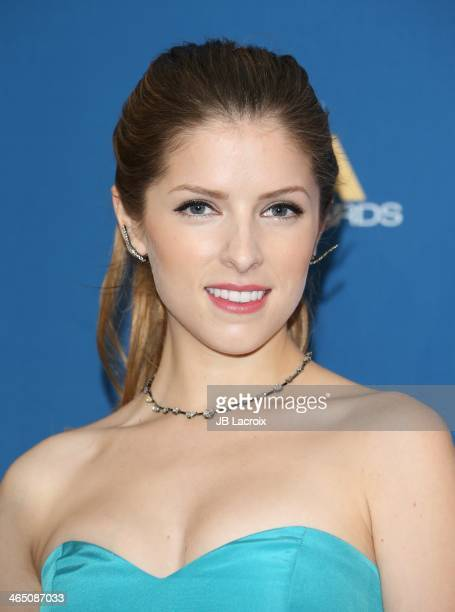 Anna Kendrick attends the 66th Annual Directors Guild Of America Awards Press Room held at the Hyatt Regency Century Plaza on January 25 2014 in...