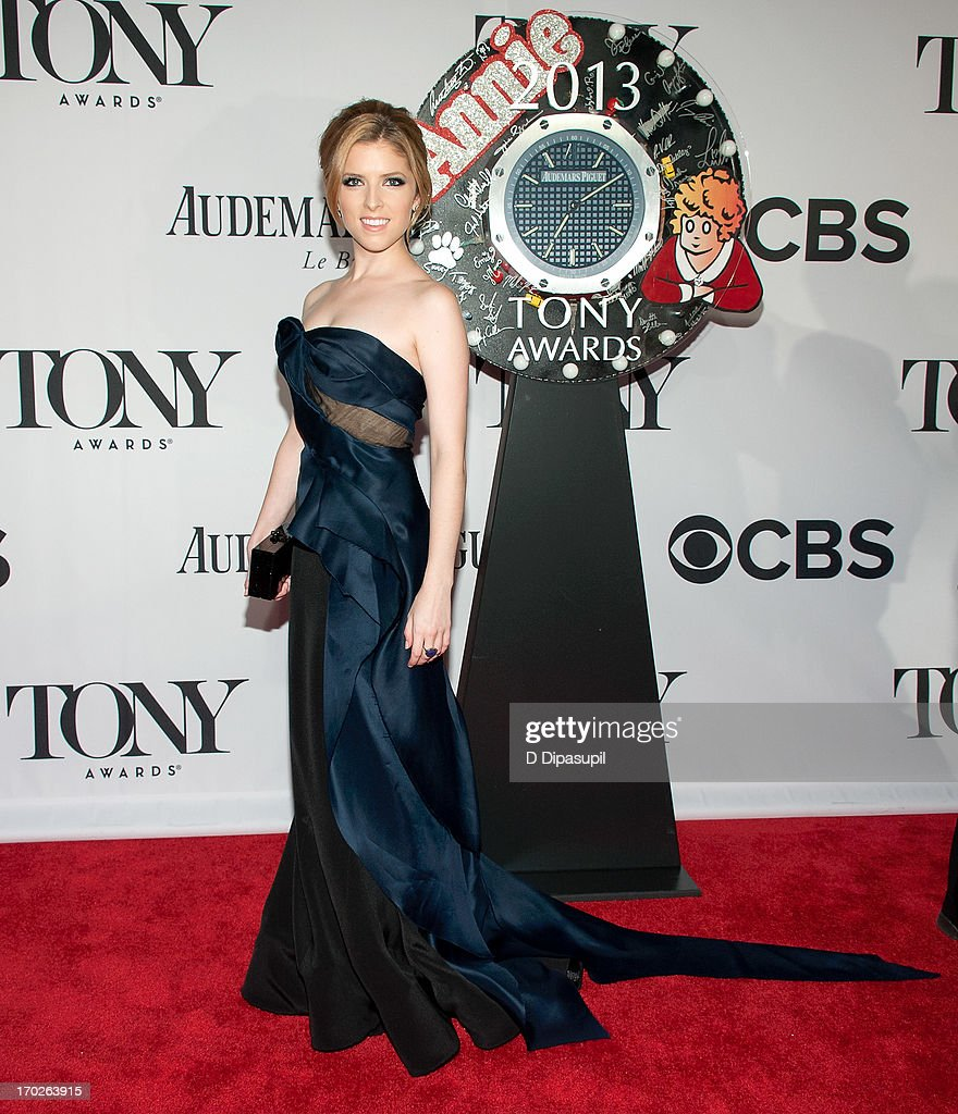 Anna Kendrick attends the 67th Annual Tony Awards at Radio City Music Hall on June 9, 2013 in New York City.