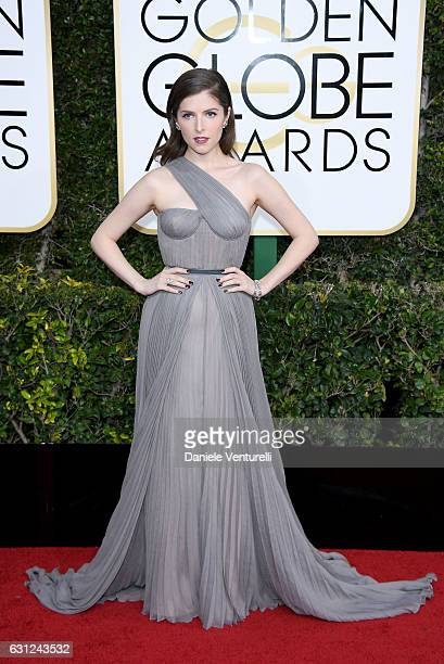 Anna Kendrick attends the 74th Annual Golden Globe Awards at The Beverly Hilton Hotel on January 8 2017 in Beverly Hills California