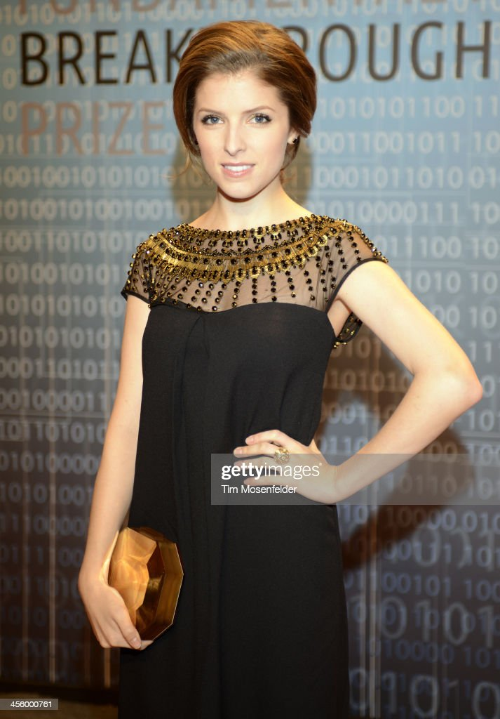 Anna Kendrick attends the Breakthrough Prize Inaugural Ceremony at Nasa Ames Research Center on December 12, 2013 in Mountain View, California.