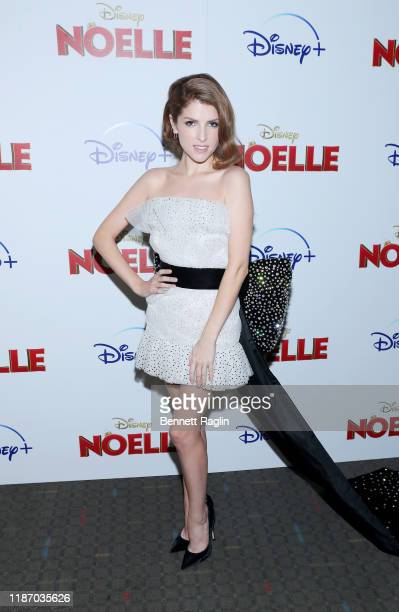 "Anna Kendrick attends the Disney + Premiere Of ""Noelle"" at SVA Theatre on November 11, 2019 in New York City."