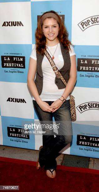 "Anna Kendrick attends the Los Angeles Film Festival Premiere Of ""Rocket Science"" at the Mann Festival Theater on June 30, 2007 in Westwood,..."