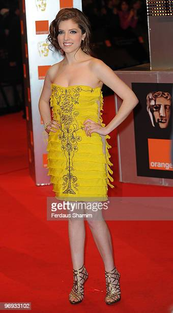 Anna Kendrick attends The Orange British Academy Film Awards 2010 at The Royal Opera House on February 21, 2010 in London, England.