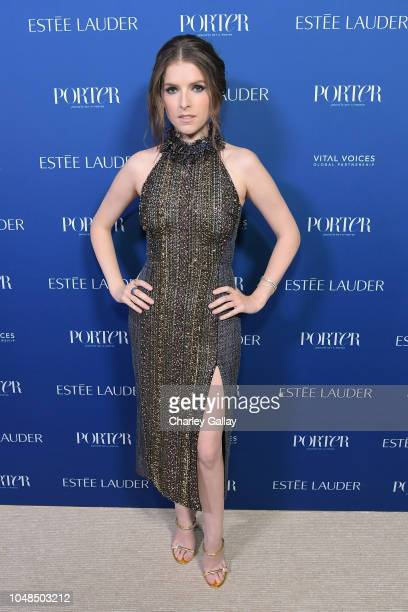Anna Kendrick attends the PORTER Incredible Women Gala 2018 at Ebell of Los Angeles on October 9 2018 in Los Angeles California