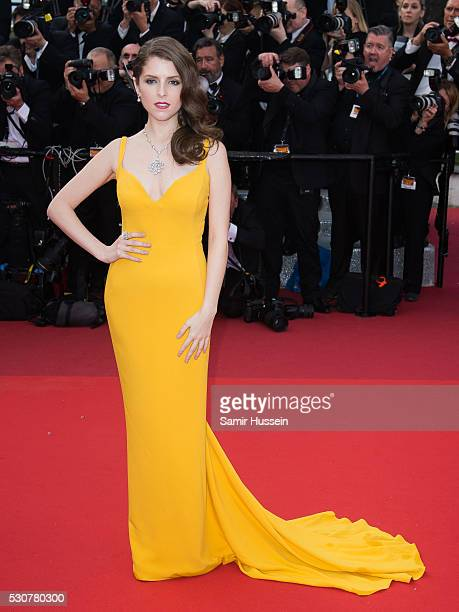 Anna Kendrick attends the screening of 'Cafe Society' at the opening gala of the annual 69th Cannes Film Festival at Palais des Festivals on May 11...