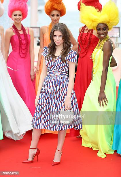 Anna Kendrick attends the 'Trolls' Photocall during The 69th Annual Cannes Film Festival on May 11 2016 in Cannes France