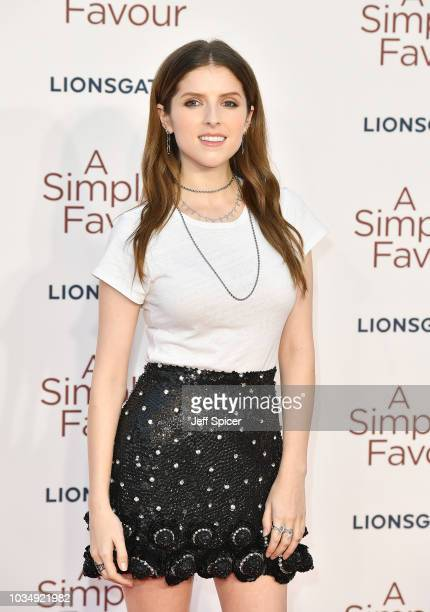 Anna Kendrick attends the UK premiere of A Simple Favour at the BFI Southbank on September 17 2018 in London England