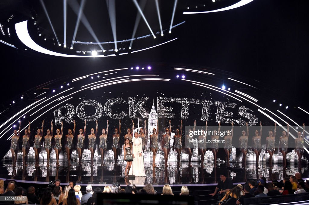 Anna Kendrick, Blake Lively, and The Rockettes perform onstage during the 2018 MTV Video Music Awards at Radio City Music Hall on August 20, 2018 in New York City.