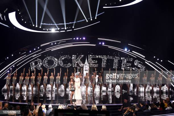 Anna Kendrick Blake Lively and The Rockettes perform onstage during the 2018 MTV Video Music Awards at Radio City Music Hall on August 20 2018 in New...