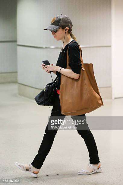Anna Kendrick is seen at LAX on May 29 2015 in Los Angeles California