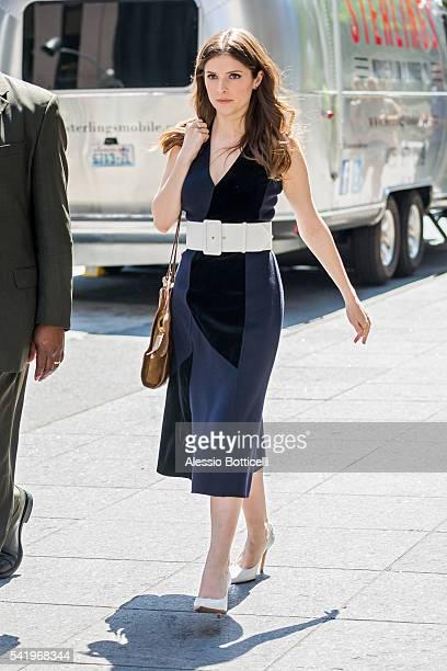 Anna Kendrick is seen in Midtown on June 21 2016 in New York New York
