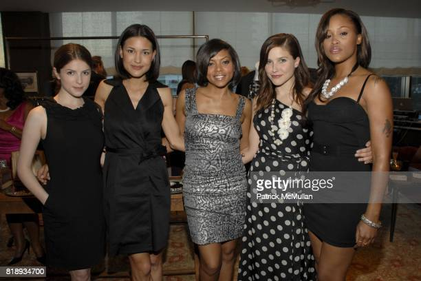 Anna Kendrick Julia James Taraji P Henson Sophia Bush and Eve attend Exclusive Preview of Ann Taylor's Fall 2010 Collection at Soho House on May 13...