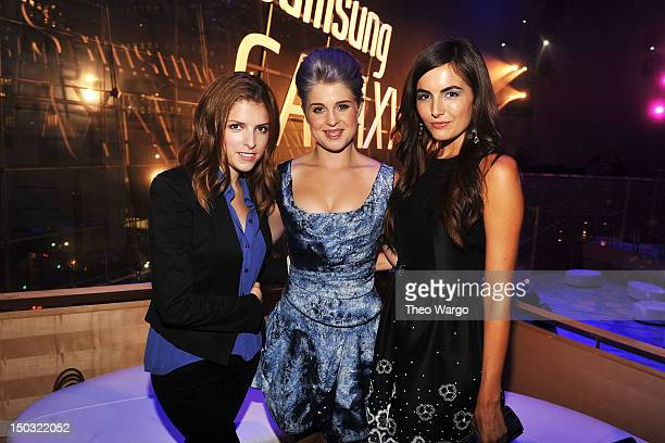 Anna Kendrick Kelly Osbourne and Camilla Belle attend Samsung Galaxy Note 101 Launch Event at Jazz at Lincoln Center on August 15 2012 in New York...
