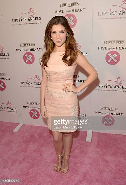Anna Kendrick launches Burt's Bees Hive with Heart campaign at City of Hope on March 25 2014 in Duarte California For more information...