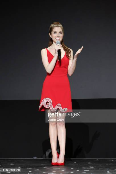 Anna Kendrick of 'Noelle' took part today in the Disney Showcase at Disney's D23 EXPO 2019 in Anaheim Calif 'Noelle' will stream exclusively on...