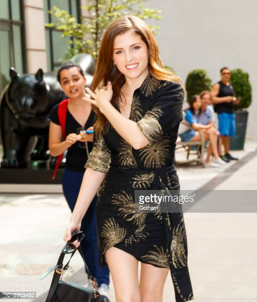 Anna Kendrick on August 18 2018 in New York City
