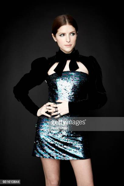 Anna Kendrick poses for a portrait at the 60th Annual GRAMMY Awards I'm Still Standing A GRAMMY Salute To Elton John at The Theater at Madison Square...