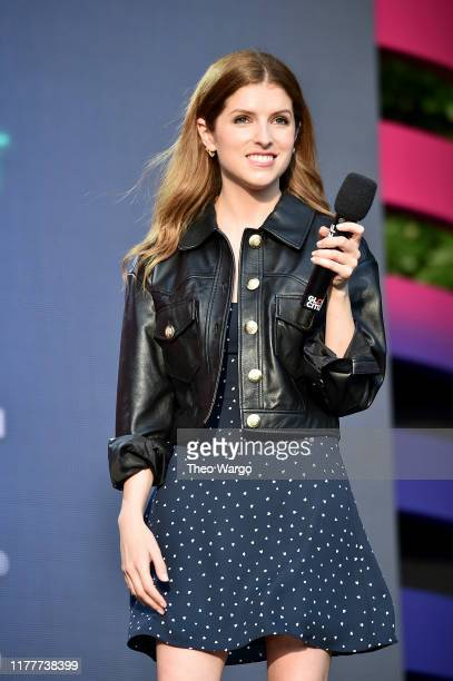 Anna Kendrick speaks onstage during the 2019 Global Citizen Festival Power The Movement in Central Park on September 28 2019 in New York City